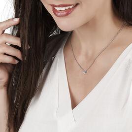 Collier Neryssa Maille Jaseron Argent Blanc Oxyde De Zirconium - Colliers Coeur Femme | Histoire d'Or