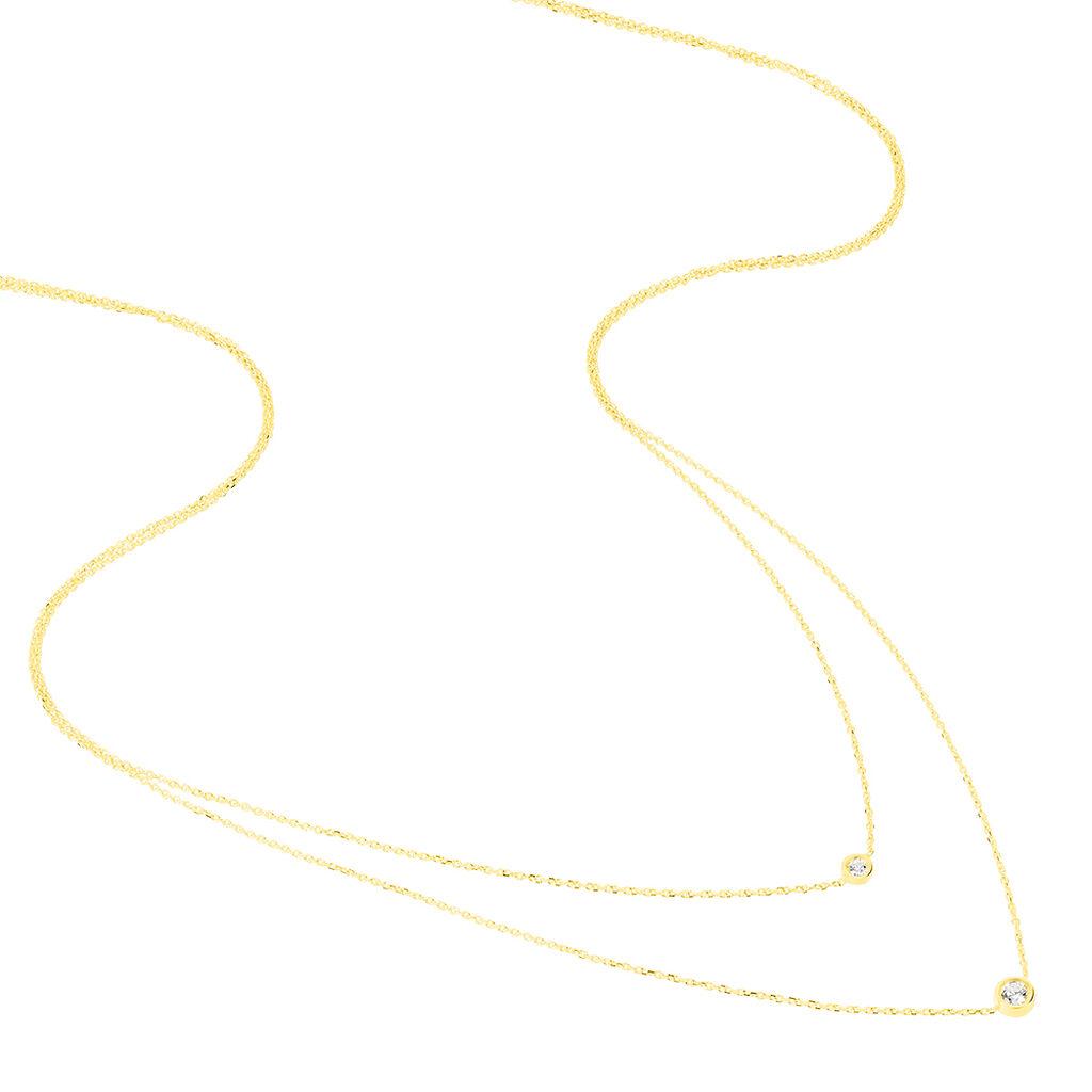 Collier Virguinia Or Jaune Oxyde De Zirconium - Bijoux Femme | Histoire d'Or