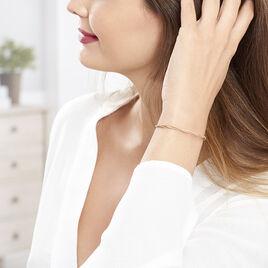 Bracelet Abie Argent Rose Torsade - Bracelets fantaisie Femme | Histoire d'Or