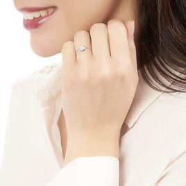 Bague Hervea Or Blanc Diamant - Bagues avec pierre Femme | Histoire d'Or