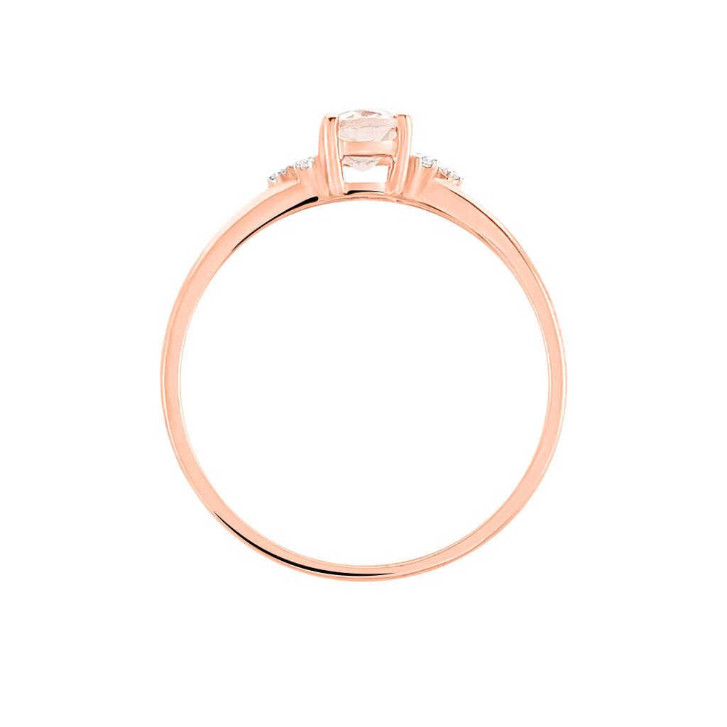 Bague Or Rose Morganite Et Diamants - Bagues avec pierre Femme | Histoire d'Or