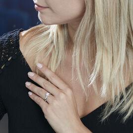 Bague Solitaire Natalia Or Blanc Diamant Synthetique - Bagues solitaires Femme | Histoire d'Or