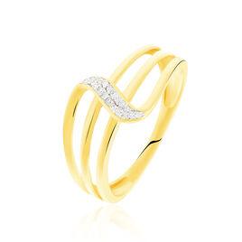 Bague Arcade Or Jaune Diamant - Bagues avec pierre Femme   Histoire d'Or