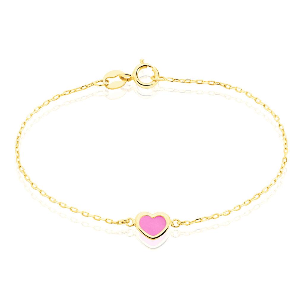 Bracelet Dulcie Coeur Or Jaune Nacre - Bracelets Coeur Enfant | Histoire d'Or
