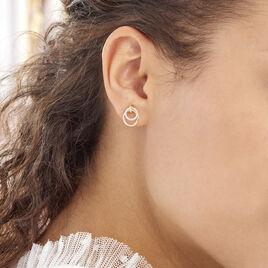 Boucles D'oreilles Puces Megan Or Jaune Diamant - Clous d'oreilles Femme | Histoire d'Or