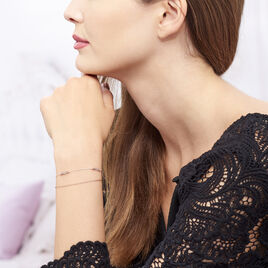 Bracelet Trendy Rose Argent Rose Malachite - Bracelets fantaisie Femme | Histoire d'Or