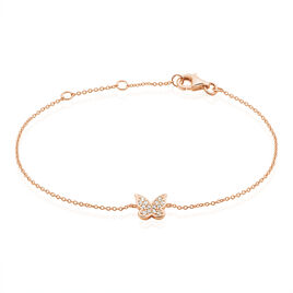 Bracelet Anne-lise Argent Rose Oxyde De Zirconium - Bracelets Papillon Femme | Histoire d'Or