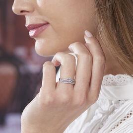 Bague Ilouna Argent Blanc Oxyde De Zirconium - Bagues avec pierre Femme | Histoire d'Or