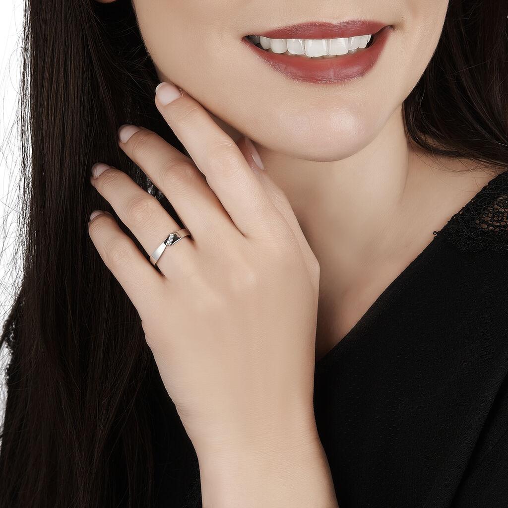 Bague Daphne Or Blanc Diamant - Bagues avec pierre Femme | Histoire d'Or