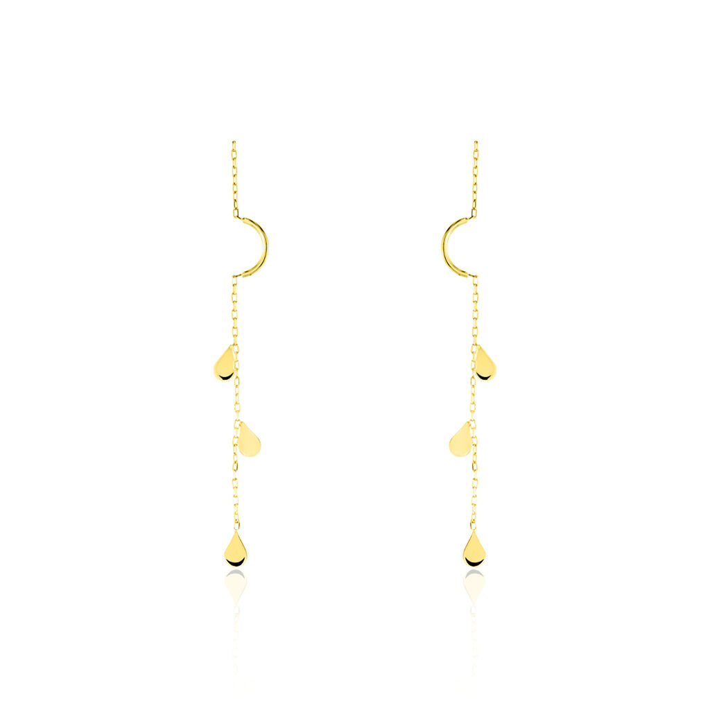 Boucles D'oreilles Pendantes Emerence Or Bicolore - Boucles d'oreilles pendantes Femme | Histoire d'Or