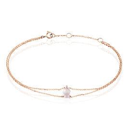 Bracelet Or Rose Quartz - Bijoux Femme | Histoire d'Or