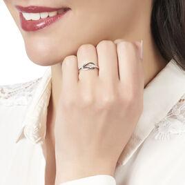 Bague Aman Or Blanc Diamant - Bagues avec pierre Femme   Histoire d'Or