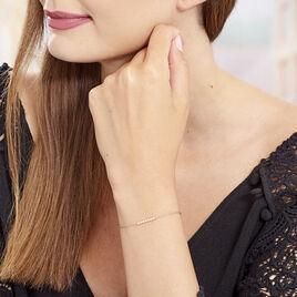 Bracelet Aryles Argent Rose Oxyde De Zirconium - Bracelets fantaisie Femme   Histoire d'Or