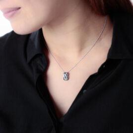 Collier Samsha Or Blanc Diamant - Bijoux Femme   Histoire d'Or