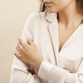 Bracelet Lovia Argent Blanc - Bracelets Coeur Femme | Histoire d'Or