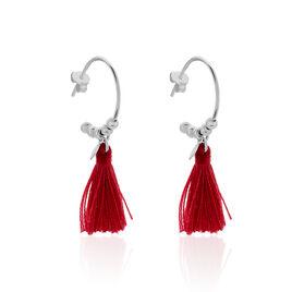 Boucles D'oreilles Pendantes Amela Argent Blanc - Boucles d'oreilles fantaisie Femme | Histoire d'Or