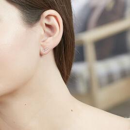 Boucles D'oreilles Puces Youssa Barrettes Or Jaune Oxyde De Zirconium - Clous d'oreilles Femme   Histoire d'Or
