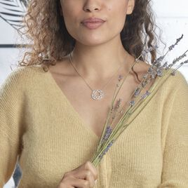Collier Abia Argent Blanc Oxyde De Zirconium - Bijoux Femme | Histoire d'Or