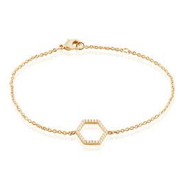 Bracelet Maria-concetta Plaque Or Jaune Oxyde De Zirconium - Bracelets fantaisie Femme | Histoire d'Or
