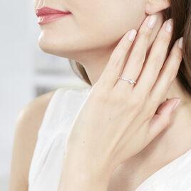 Bague Solitaire Servana Or Blanc Oxyde De Zirconium - Bagues solitaires Femme   Histoire d'Or