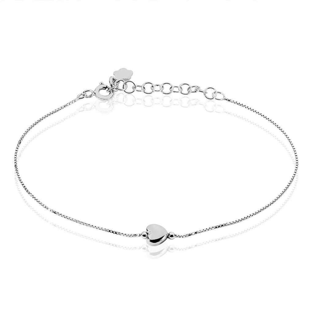 Bracelet Leandra Argent Blanc - Bracelets Coeur Femme | Histoire d'Or