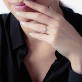 Bague Solitaire Natalia Or Blanc Diamant - Bagues solitaires Femme | Histoire d'Or