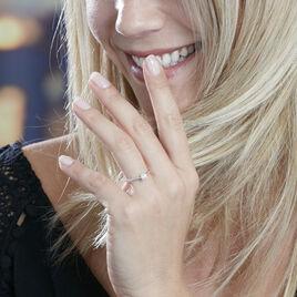 Solitaire Or Blanc Fiona Diamant Synthetique - Bagues avec pierre Femme   Histoire d'Or