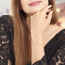 Bracelet Pink Or Rose Cercle Ajoure - Bijoux Femme | Histoire d'Or