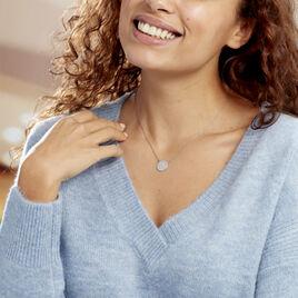Collier Vinia Argent Blanc - Colliers Etoile Femme   Histoire d'Or