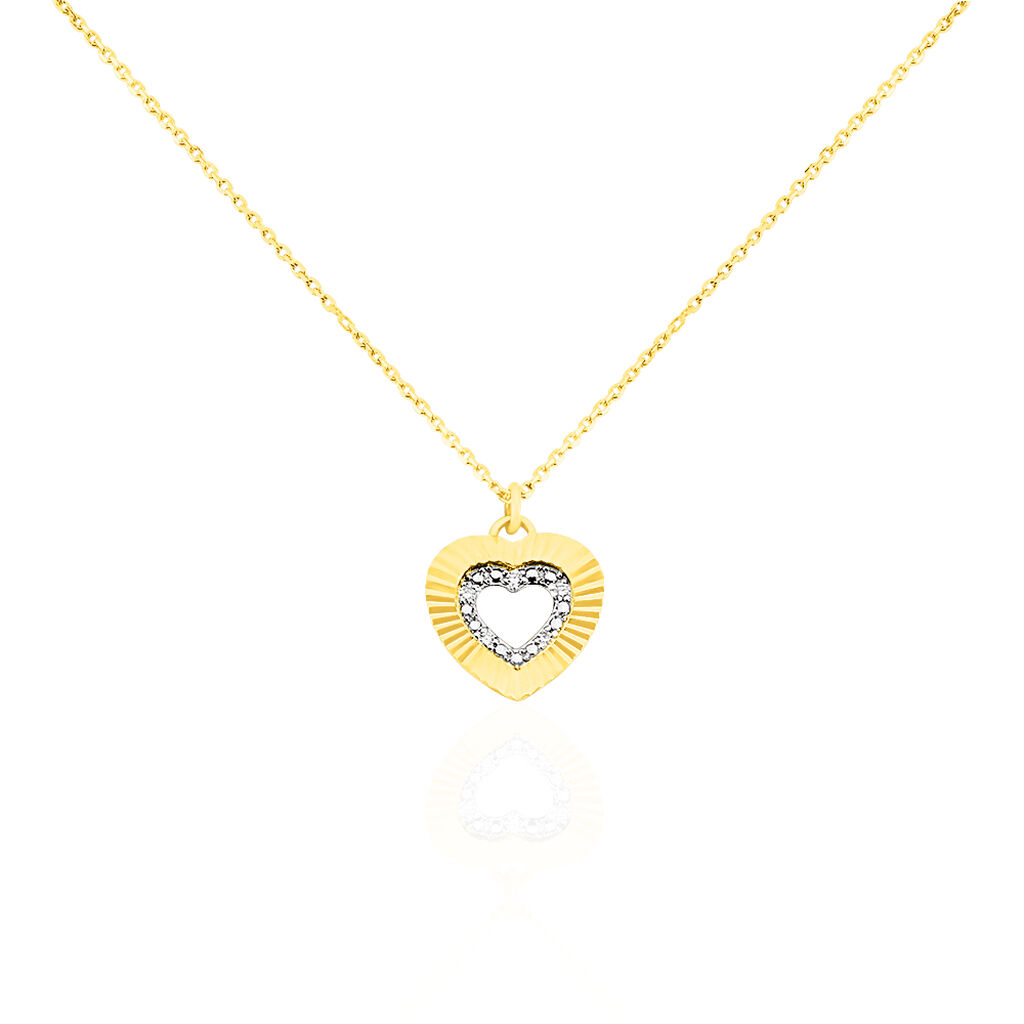 Collier Roxy Or Jaune Diamant - Colliers Coeur Femme | Histoire d'Or