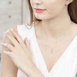 Collier Clothilde Or Blanc Topaze Et Diamant - Colliers Coeur Femme | Histoire d'Or
