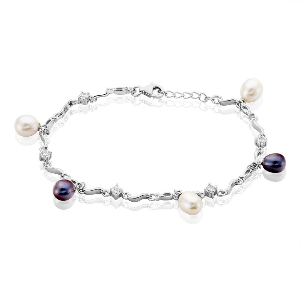 Bracelet Salomee Argent Blanc Perle De Culture - Bracelets fantaisie Femme   Histoire d'Or
