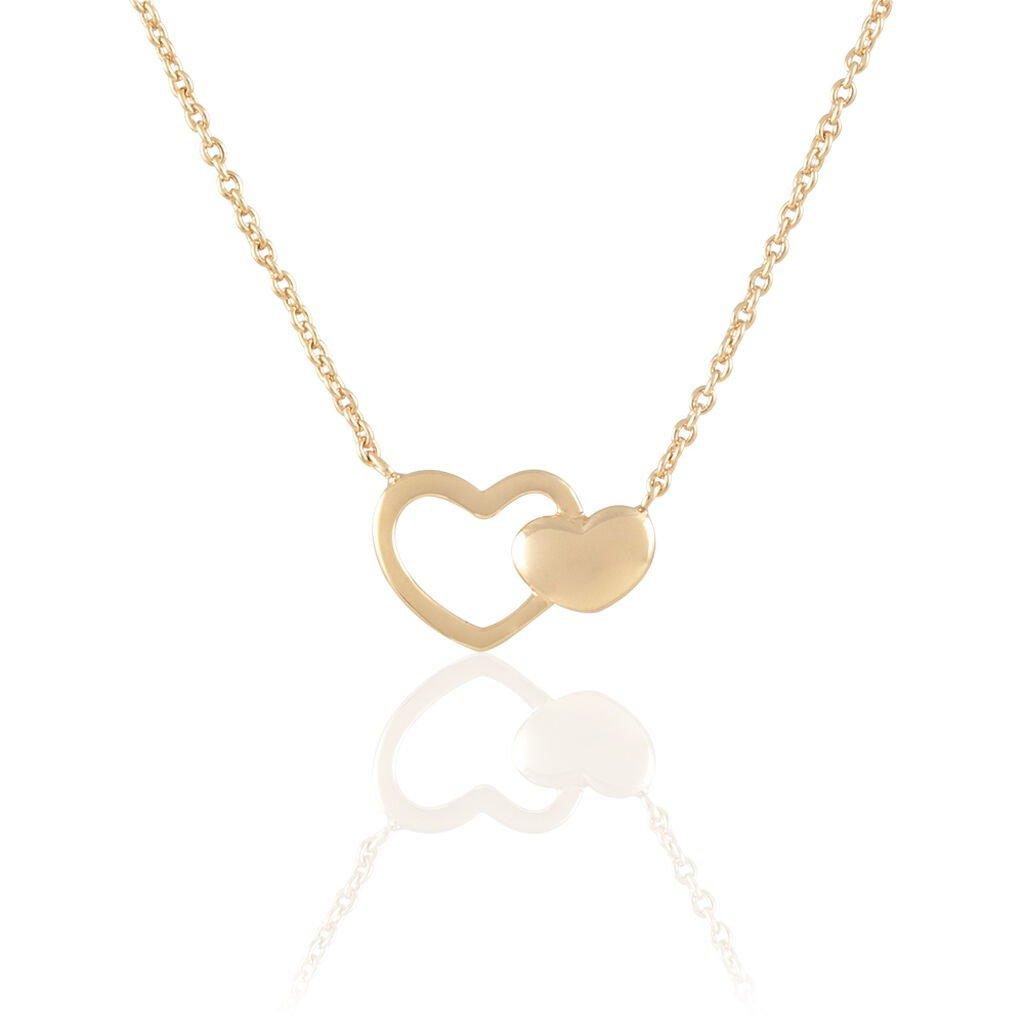 Collier Karelae Plaque Or Jaune - Colliers Coeur Femme   Histoire d'Or