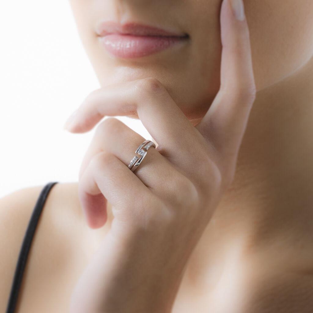 Bague Solitaire Elisa Or Blanc Diamant - Bagues solitaires Femme | Histoire d'Or