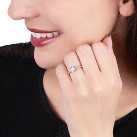 Bague Solitaire Celina Argent Blanc Oxyde De Zirconium - Bagues avec pierre Femme | Histoire d'Or