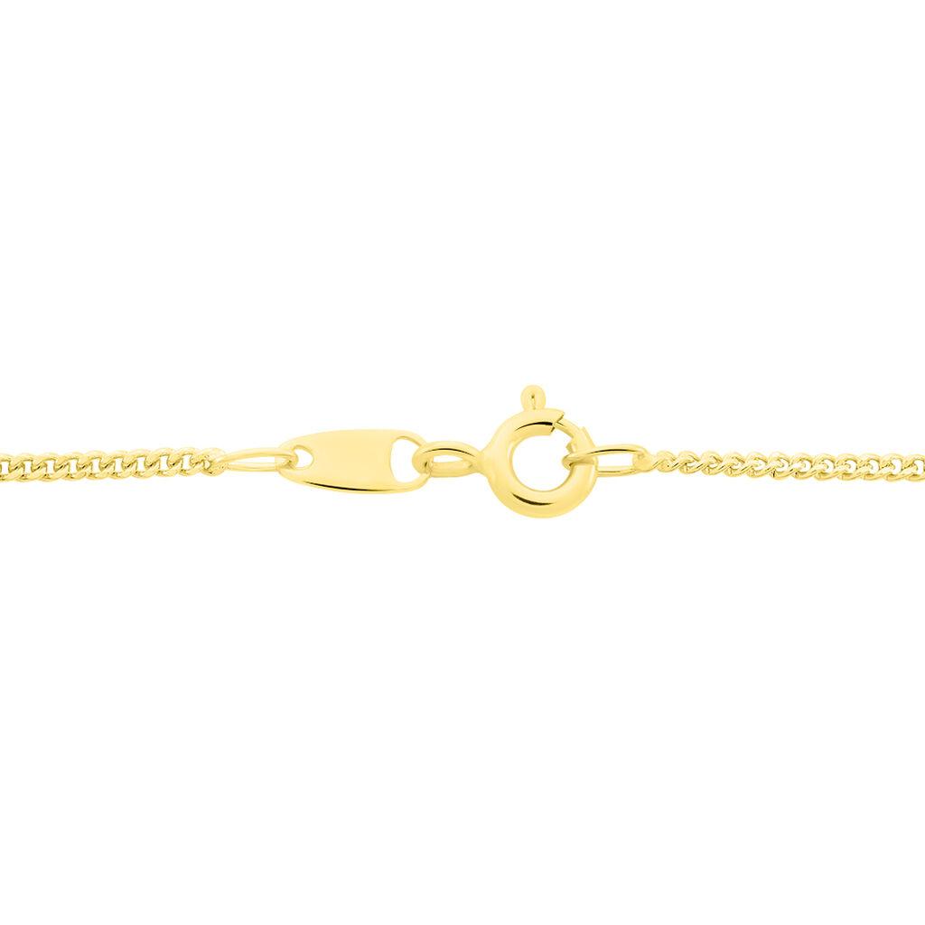 Chaîne Ixia Maille Gourmette Diamantee Or Jaune - Chaines Unisex   Histoire d'Or