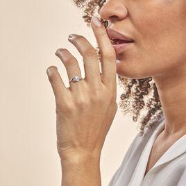 Bague Ferdi Or Blanc Oxyde De Zirconium - Bagues avec pierre Femme | Histoire d'Or