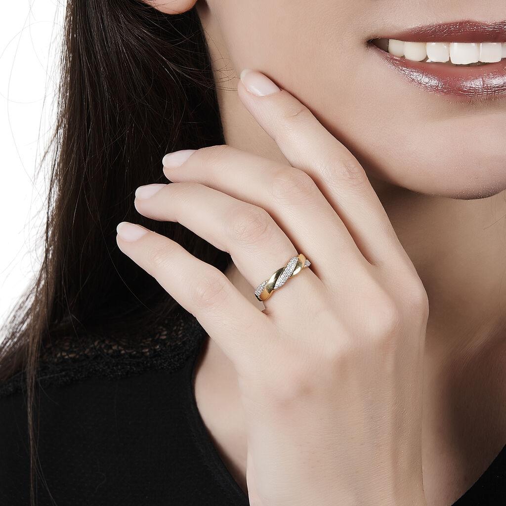 Bague Admète Or Jaune Diamant - Bagues avec pierre Femme | Histoire d'Or