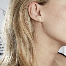 Boucles D'oreilles Puces Himelinda Or Jaune - Clous d'oreilles Femme | Histoire d'Or
