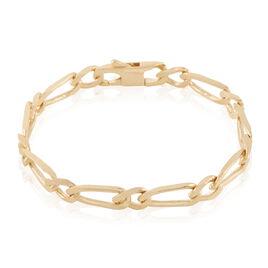 Bracelet Cameron Maille Alternee 1/1 Plaque Or Jaune - Bracelets chaîne Femme | Histoire d'Or