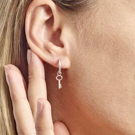 Créole Ancelin Rondes Argent Rhodié Oxyde De Zirconium - Boucles d'oreilles créoles Femme | Histoire d'Or