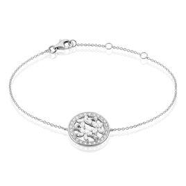 Bracelet Katucia Argent Blanc Oxyde De Zirconium - Bracelets Papillon Femme | Histoire d'Or
