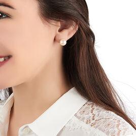 Boucles D'oreilles Puces Marie-stephaneae Or Jaune Perle De Culture - Clous d'oreilles Femme | Histoire d'Or
