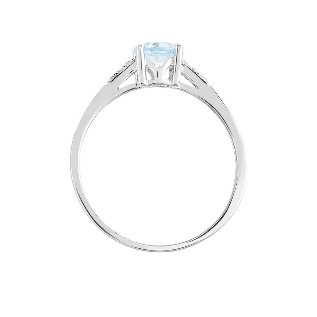 Bague Tarente Or Blanc Topaze Et Diamant -  Femme | Histoire d'Or