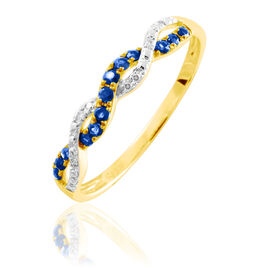 Bague Sofia Or Jaune Saphir Et Diamant - Bagues avec pierre Femme | Histoire d'Or