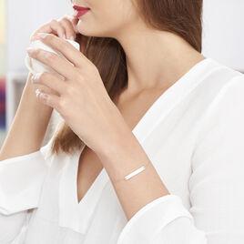Bracelet Barrette Gravable Or Rose - Bijoux Femme | Histoire d'Or