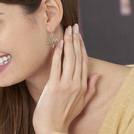 Boucles D'oreilles Pendantes Fuji Plaque Or Jaune - Boucles d'oreilles fantaisie Femme | Histoire d'Or