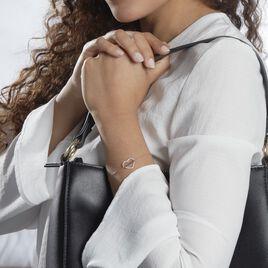 Bracelet Gyula Or Jaune Oxyde De Zirconium - Bracelets Coeur Femme   Histoire d'Or