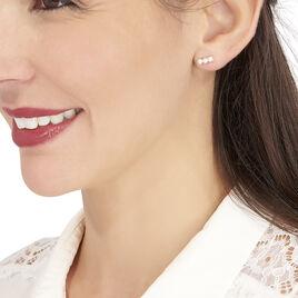 Boucles D'oreilles Puces Caitlyn Or Jaune Perle De Culture - Clous d'oreilles Femme | Histoire d'Or