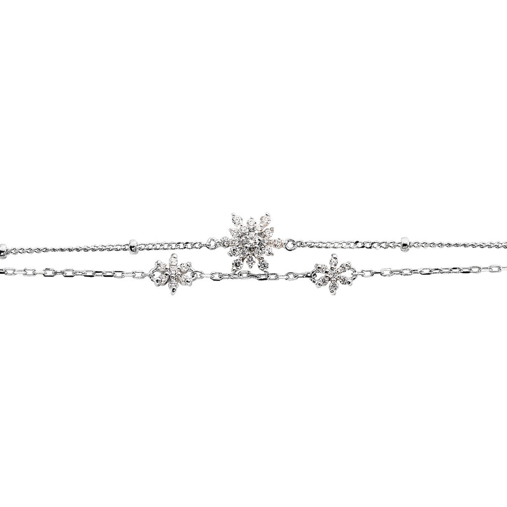 Bracelet Leila Argent Blanc Oxyde De Zirconium - Bracelets fantaisie Femme | Histoire d'Or